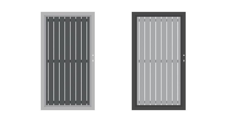 SQUADRA Einzeltor Anthrazit und Lichtgrau mit Rahmen in Kontrastfarbe