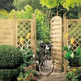 XL - Sichtschutz aus Nadelholz, Tore verfügbar