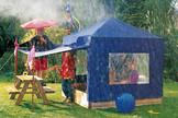 BENJAMIN Kinderpavillon mit blauem Dach