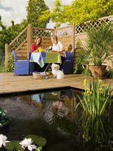 XL Holzzaun für Terrasse und Garten