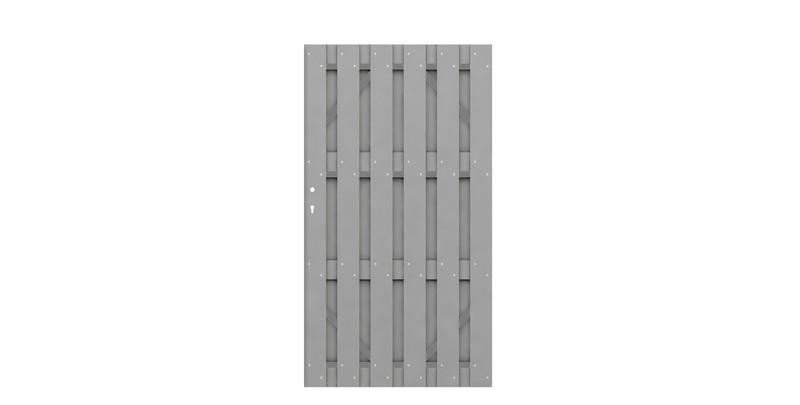 JUMBO WPC Grau Einzeltor auf Maß