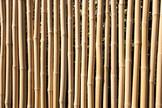 Zaunserie BAMBU aus natürlichen Bambusstäben