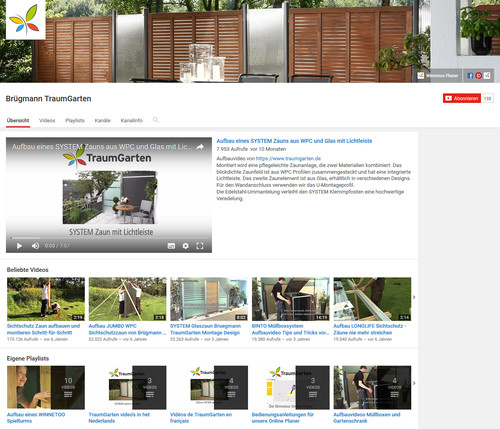 TraumGartens Videokanal youtube