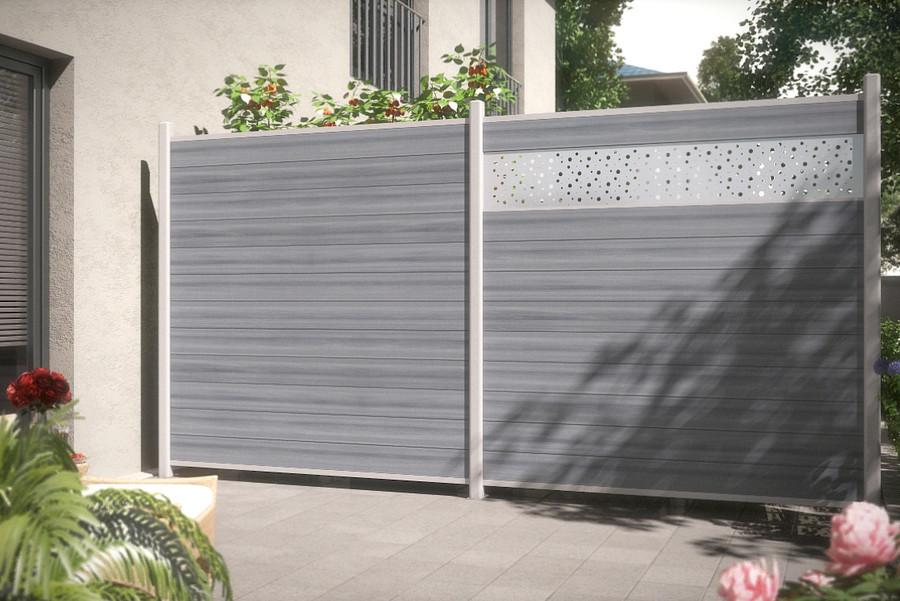 SYSTEM WPC PLATINUM Grau Terrasse