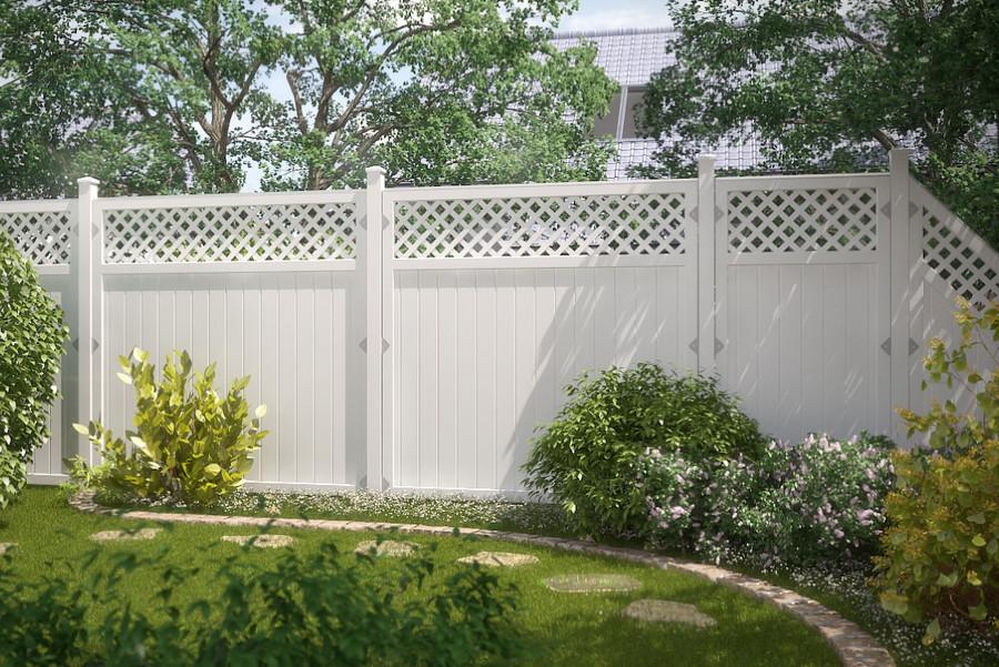 RIVA Weiß - langlebiger, streichfreier Sichtschutz