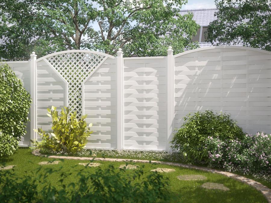 LONGLIFE ROMO - ein Zaunklassiker aus weißem Fensterkunststoff