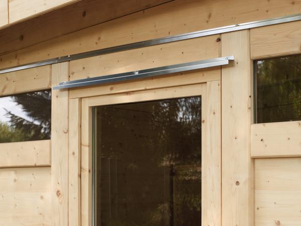 Aluminium Abtropfbleche über Fenstern, Türen und Querriegeln