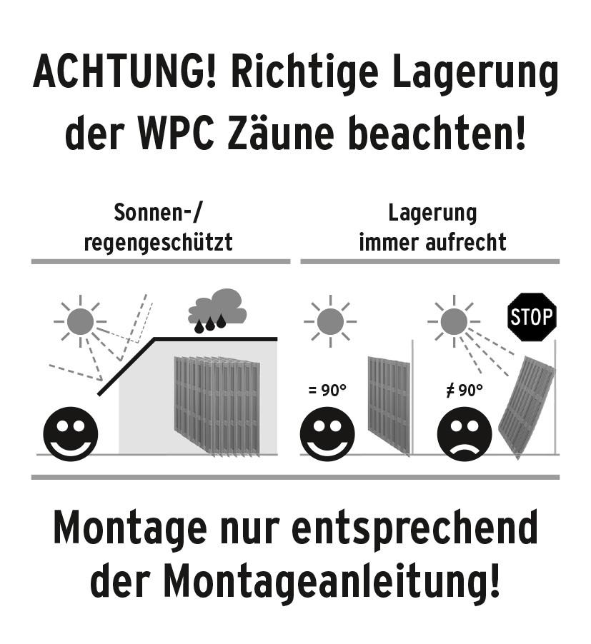 WPC Zäune richtig lagern