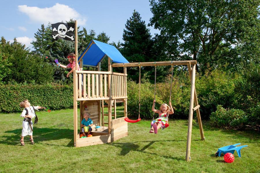 FIPS Spielturm Pirat mit Schaukelanbau