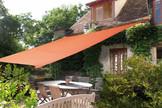 Rechteckiges Sonnensegel Terracotta
