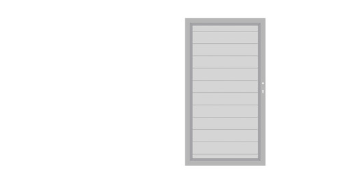 SYSTEM ALU Silber-Silber Einzeltor