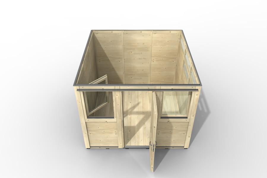 Haus 3x3 Art. 3602 Ansicht von oben