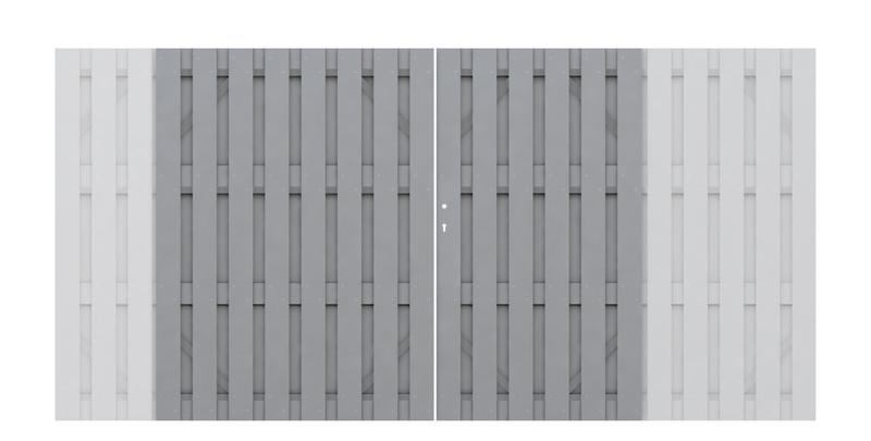 JUMBO WPC Doppeltor Grau