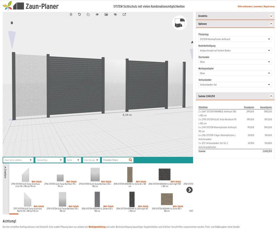 3D-Zaun-Planer