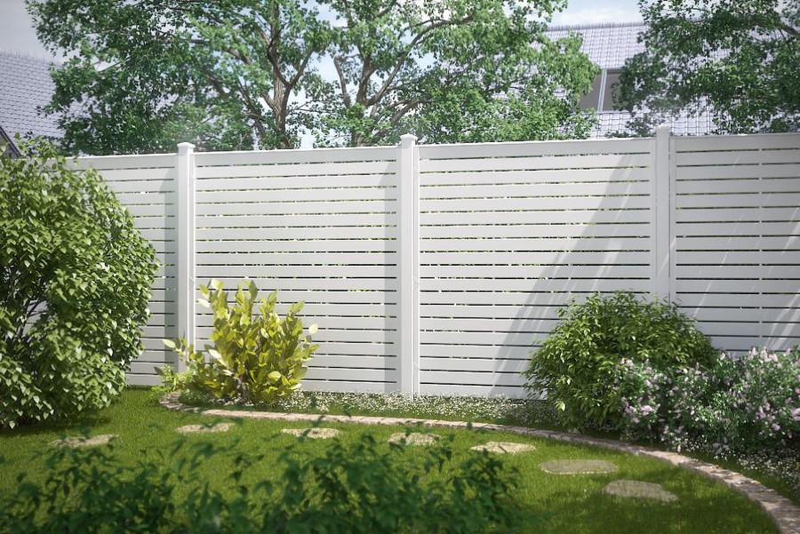 Sichtschutz aus weißem Fensterkunststoff LONGLIFE NOVO DESIGN