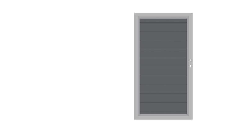 SYSTEM ALU Anthrazit-Silber Einzeltor