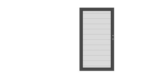 SYSTEM ALU Silber-Anthrazit Einzeltor
